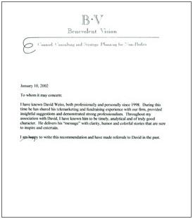 Character Reference Letter Letter Samples | Caroldoey
