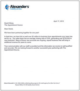 Click To Enlarge Business Appointment Letter